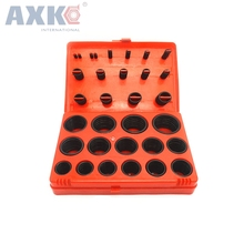 AXK 382pcs Black NBR O Ring Seal Kit 30 Different Sizes Rubber O-ring Sealing Gasket Assortment Set with Red Plastic Case kit 419pcs o ring o ring black rubber 32 sizes with case 3 50mm