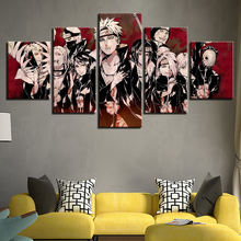 5 Panel Naruto Characters Home Decoration Posters Modern Wall Art