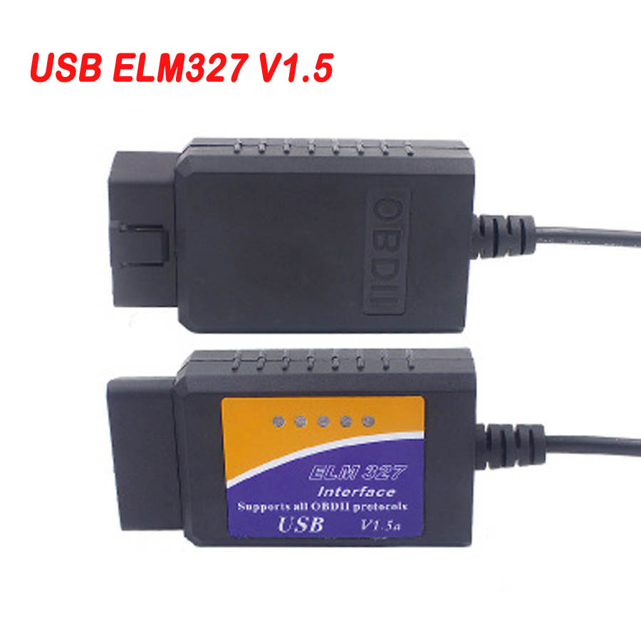 2019 New <font><b>ELM327</b></font> USB V1.5 OBD2 Car Diagnostic Interface Scanner ELM 327 <font><b>1.5</b></font> OBDII Diagnostic Tool ELM-327 OBD 2 Code Reader Scan image