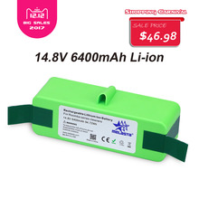 6.4Ah 14,8 V Li-Ion Akku mit Marke Zellen für iRobot Roomba 500 600 700 800 980 serie 510 530 550 560 650 770 780 870 880 R3