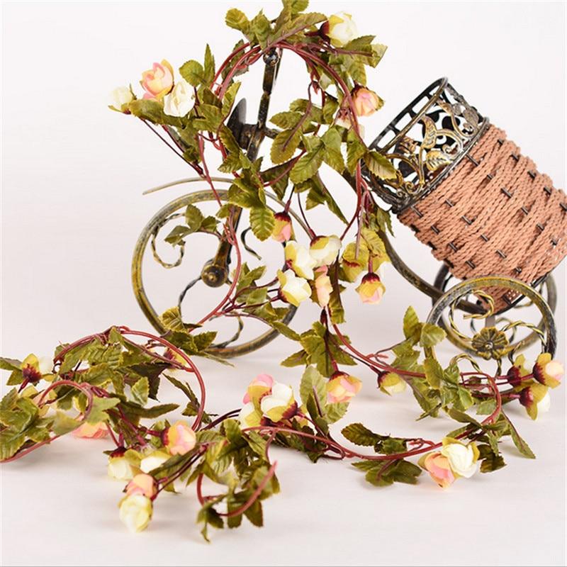 220 εκατοστά Fake Τριαντάφυλλα μετάξι Ivy - Προϊόντα για τις διακοπές και τα κόμματα - Φωτογραφία 3