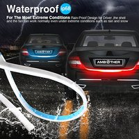 Yellow Red Ice Blue White Flowing Rear LED Trunk Dynamic Turn Signal Light Strip Flexible Tailgate