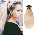 8A Grade #T1B 613 Blonde Virgin Hair Weave 3 Bundle Deals Silky Straight Brazilian Hair Extensions Ombre Blonde Hair Bundles