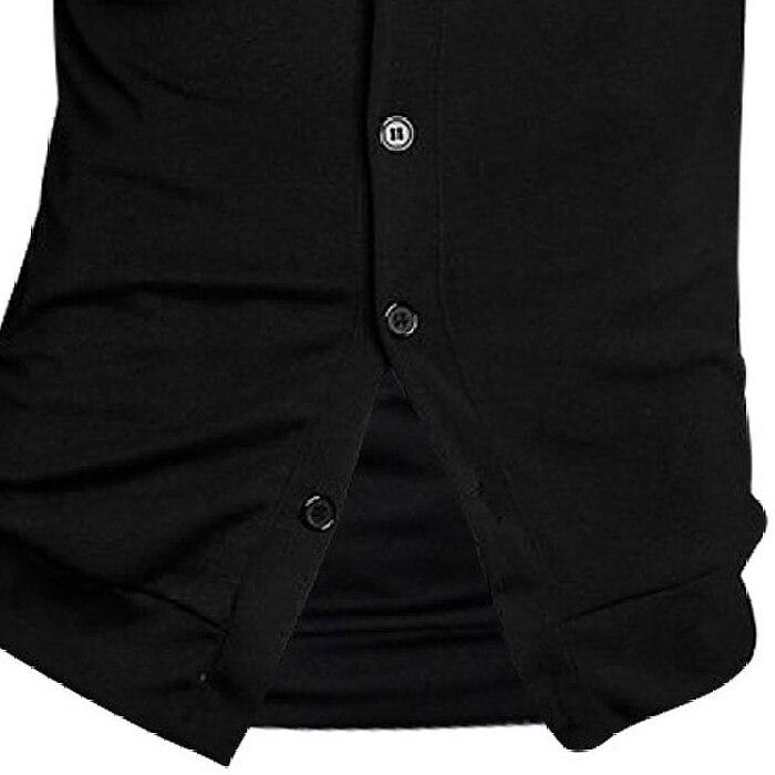 MOCH New Arrival Men Deep V Neck Long Sleeve Casual Slim Button Cardigans