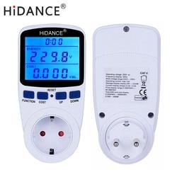 AC digital voltmeter ammeter power supply voltage meters detector wattmeter  tester Measuring EU socket analyzer With Backlight
