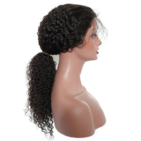 Предварительно сорвал полный шнурок человеческих волос парики отбеленные узлы с ребенком волос 250% плотность бразильские вьющиеся парик че