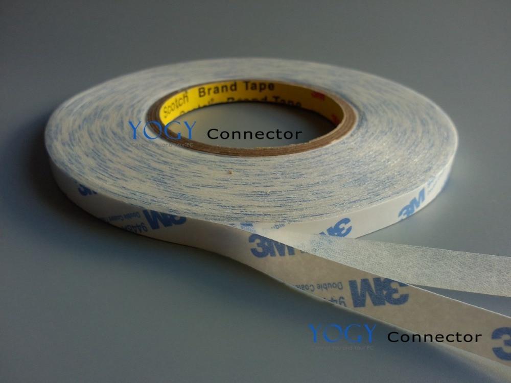 22mm width, 50 Meters, White Double Sided Adhesive Tissue Tape for Foam, Lamination Film Bonding 1mm thick 6mm wide 5 meters long double sided adhesive foam sponge tape for pcb pc phone dustproof seal