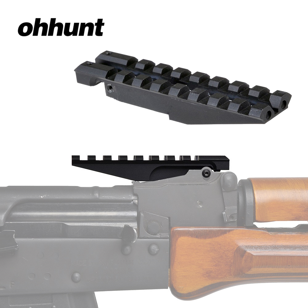 Tactical ohhunt AK Rear Sight Rail Standard 1913 Picatinny Weaver Hunting <font><b>Scope</b></font> <font><b>Mount</b></font> For <font><b>AK47</b></font> AK74 Low Profile Red Dot Optics image