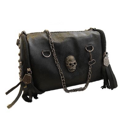bolsas new 2017 European and American style women tassel skull chain tote bag PU leather handbags shoulder bags messenger AB0059