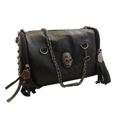 bolsas new 2018 European and American style women tassel skull chain tote  bag PU leather handbags shoulder bags messenger AB0059 60201b0e32
