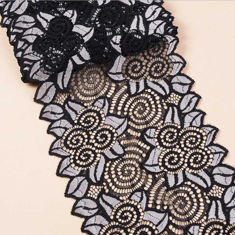 DIY elastik dantel giyim iç çamaşırı aksesuarları Spandex düğün giyim DIY el yapımı sütyen dantel dikiş malzemeleri geniş 18CM