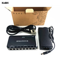 KuWFi 90W 8 Port PoE Switch 10 100Mbps POE Switch Power Ethernet For IP Camera Network