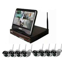 JSA Plug And Play 8CH Wireless Surveillance System 10 LCD NVR 2TB HDD 720P HD H