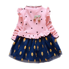 New Fashion Long Sleeve Toddler Kids Baby Girl Princess Flor