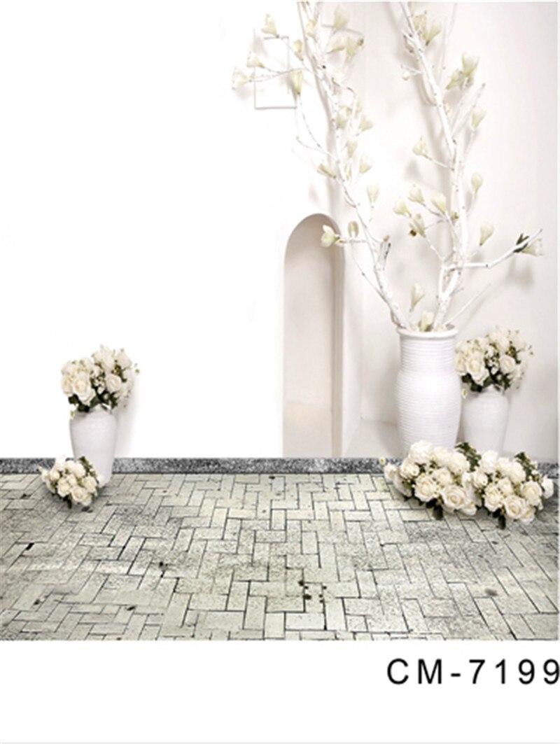 Pure White Indoor Backdrop Flowers Wedding Photo Background Grey ...