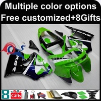 green black motorcycle cowl for Kawasaki ZX-6R 1998-1999 98 99 ZX6R 1998 1999 98-99 ABS Plastic Fairing