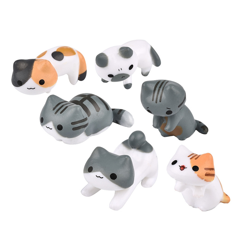 Cute cat micro landscape decoration