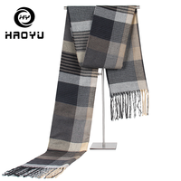2019 New Fashion Men Knit Scarf Winter Warm Unisex Thick Male Scarves Long Size Cashmere Shawl