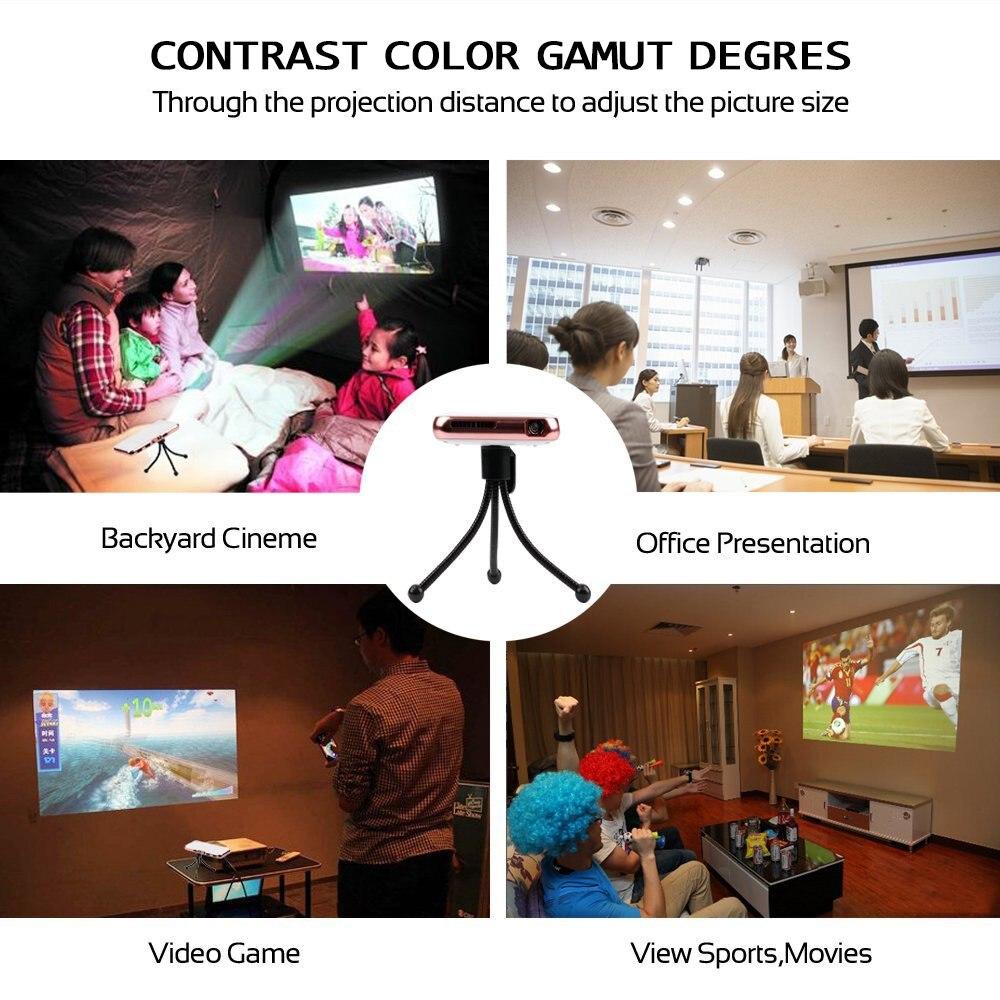 Të gjithë fitojnë Projektues mini-xhepi Projektor Celular - Audio dhe video në shtëpi - Foto 5