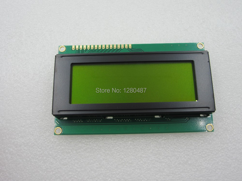 Free Shipping 1pcs font b LCD b font module Yellow green screen 2004 5V font b