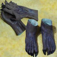 Nuovo terrore zombie Fantasma Guanti Stivaletti set Di Halloween diavolo cos cosplay di travestimento di carnevale cappuccio di lattice Guanti