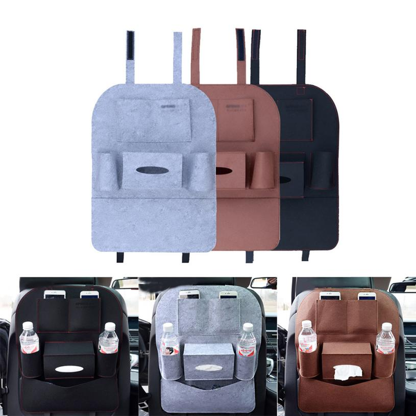 New Car Auto Seat Back Multi-Pocket Storage Bag Organizer Holder Hanger Diaper Bag Baby Kids Car Seat Hanging Bag Dropship