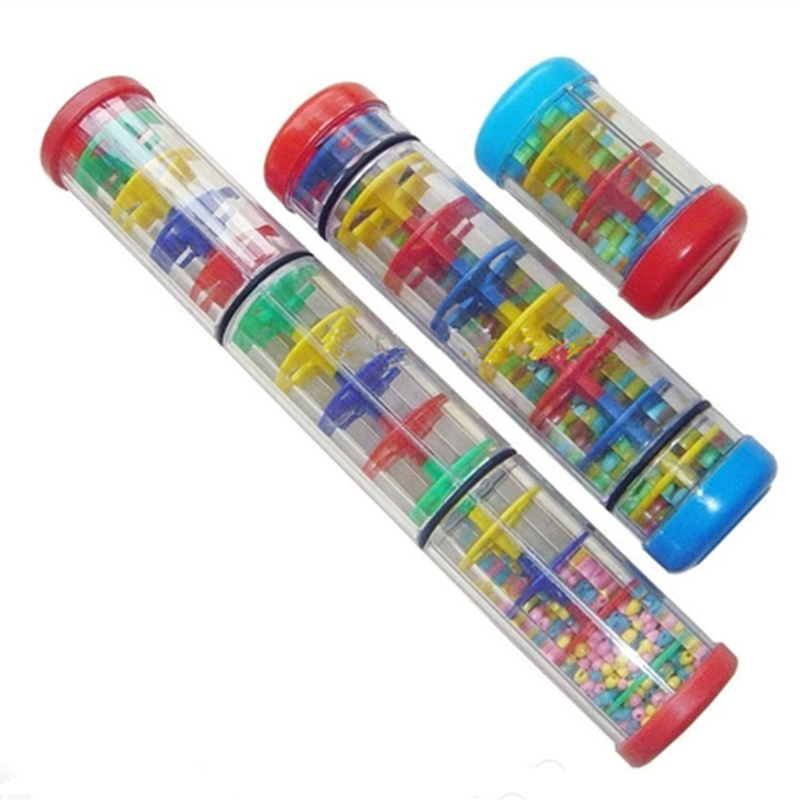 SOACH Colorful Baby Music Education Safe Tasteless Plastic Western Percussion Instrument  Early Learning Center Rainmaker Shaker