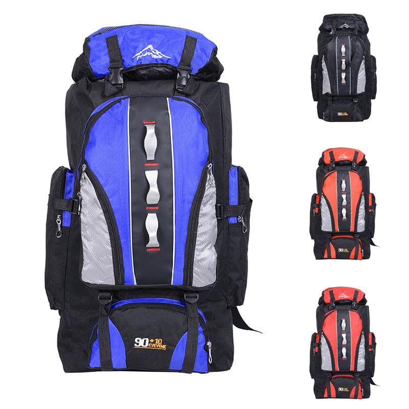 100L pelbagai fungsi beg perjalanan besar lelaki wanita sukan ransel nilon luar kalis air mendaki perkhemahan memancing beg 5 warna