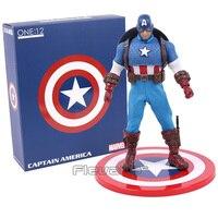 MEZCO Marvel Super Hero Avengers Captain America 1/12 Scale PVC Action Figure Collectible Model Toy 16cm