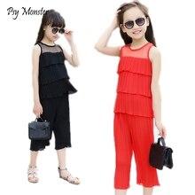 Clothes for kids girls Princess Brand chiffon blouse shirts + haren pants 2pcs children clothing set kids Cute roupas infantil