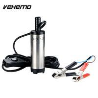 VEHEMO Silver 12V DC Portable Car Submersible Pump Truck Parts Fuel Car Oil Air Pump Diesel
