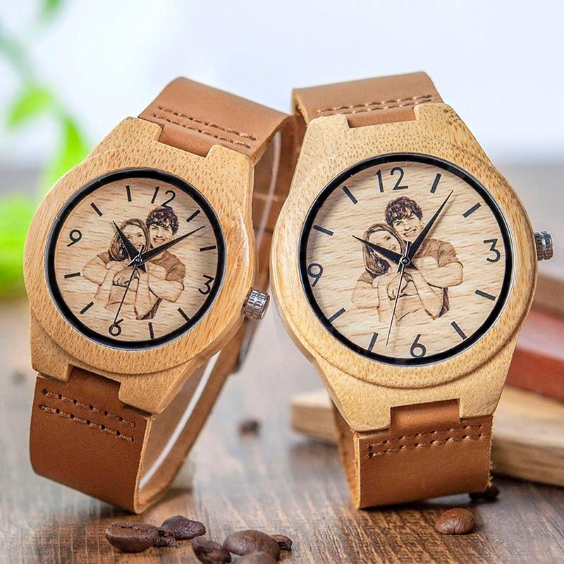 Cantidad limitada seleccione para el despacho color rápido Reloj madera personalizado impresión UV Hombre-mujer