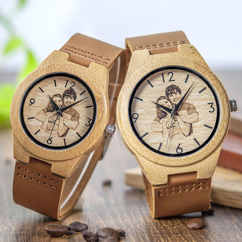 Reloj madera personalizado impresión UV Hombre-mujer 1