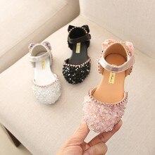 Детские сандалии принцессы с бантом и кристаллами для маленьких девочек; летние детские сандалии; Повседневная обувь;#3
