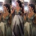 Sparkle baile vestidos gris plata sin espalda vestido de fiesta vestidos del desfile vestidos de noche