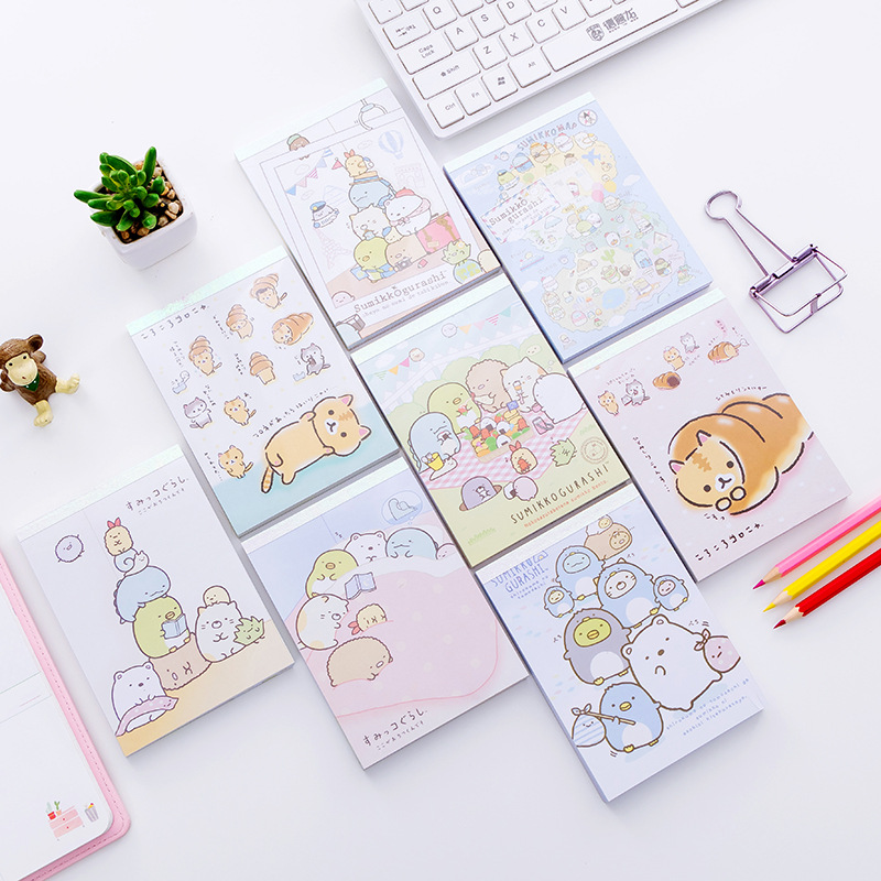 Promo 100 Sheets Cute Sumikko Gurashi Daily Memos Notebook School