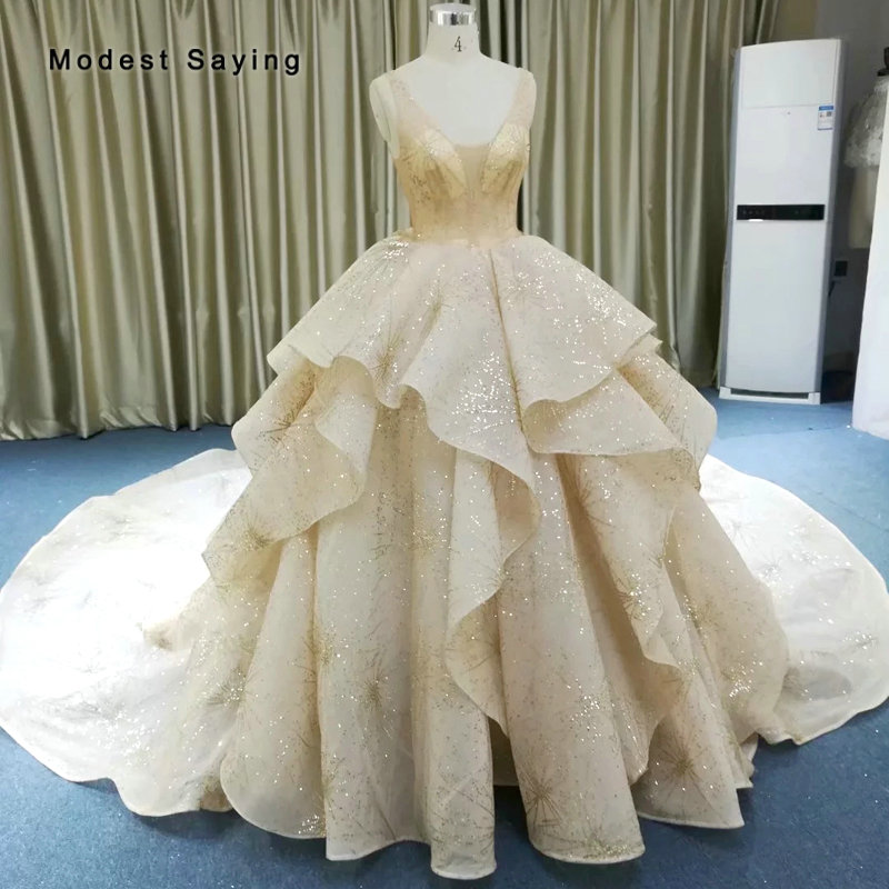 42d5b070c51c0 Buy sexy shiny wedding dress and get free shipping on AliExpress.com