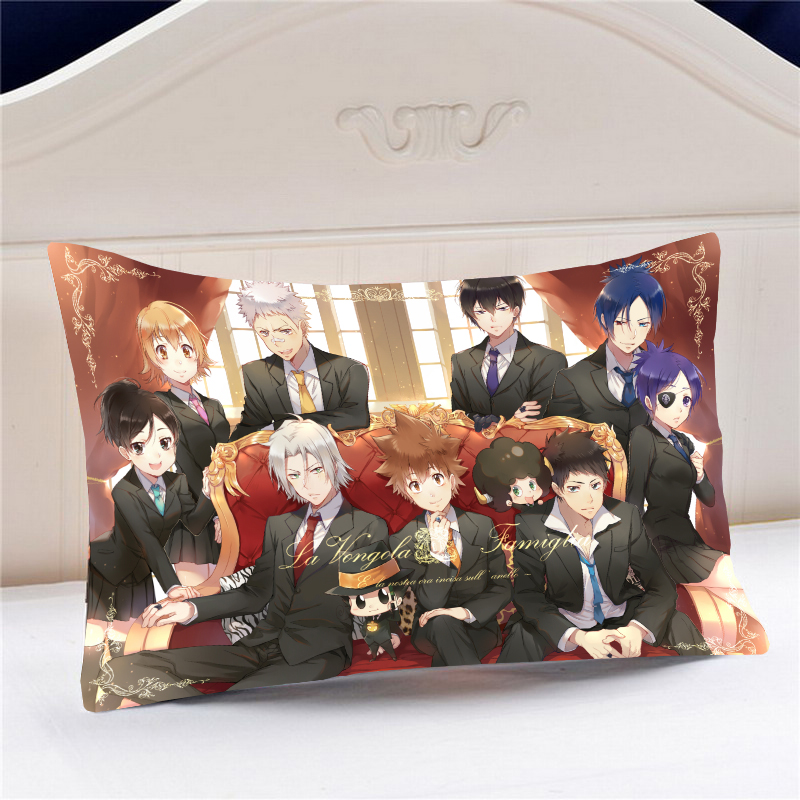 Oct. Home Textile Anime Katekyo Hitman Reborn Polyester / Micro-suede / 2WT 60*40CM One-sided Two-sided Pillow Case #41485 image