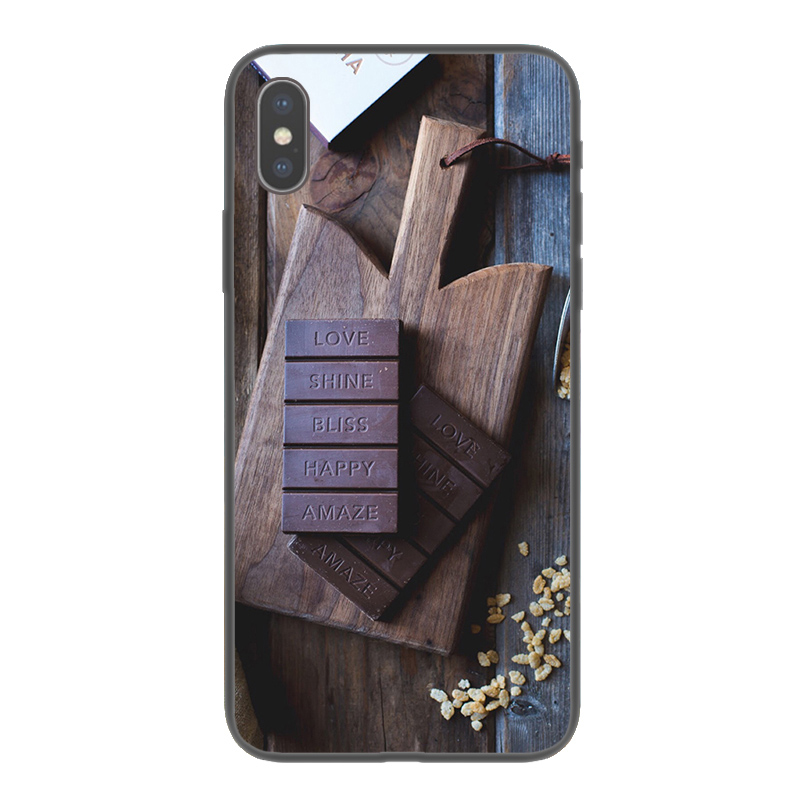 Silicon Mobile phone case For apple iPhone 5 5s se Soft TPU print chocolate cellphone case For iPhone x 6 7 Plus Cover 103