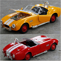 2016 Hot 1:32 Child Classic Cars Models Cobra 3 Colors Alloy Car Back To Force The Door Open With Music Gift Free Shipping x143