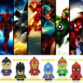 USB flash drive super hero pendrive avengers 50 pcs/lot cute cartoon superman U disco 2016 OEM hot sale spiderman USB card