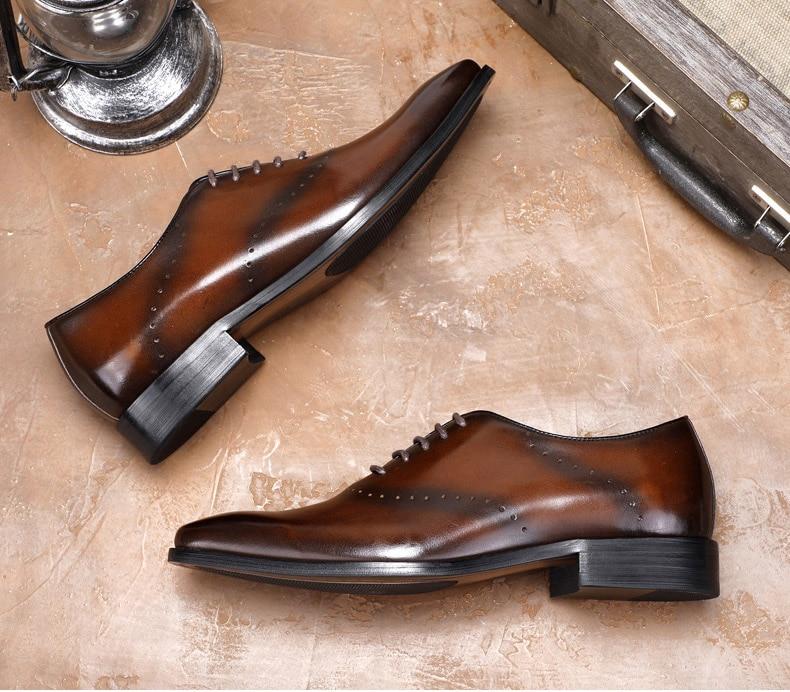 Kleid Designer Männer Spitz Oxford Schuhe Braun Qyfcioufu Mode Echte Italienischen Schwarz Schuh Leder Formale Brogue C6UnwB5q