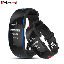 Imosi H66 bande intelligente soutien ECG + PPG pression artérielle surveillance de la fréquence cardiaque IP67 poof podomètre sport Fitness Bracelet