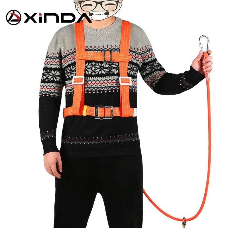 Xinda ceinture de protection aérienne extérieure anti-chute crochet de sécurité haute altitude opération résistant à l'usure escalade ceinture de sécurité