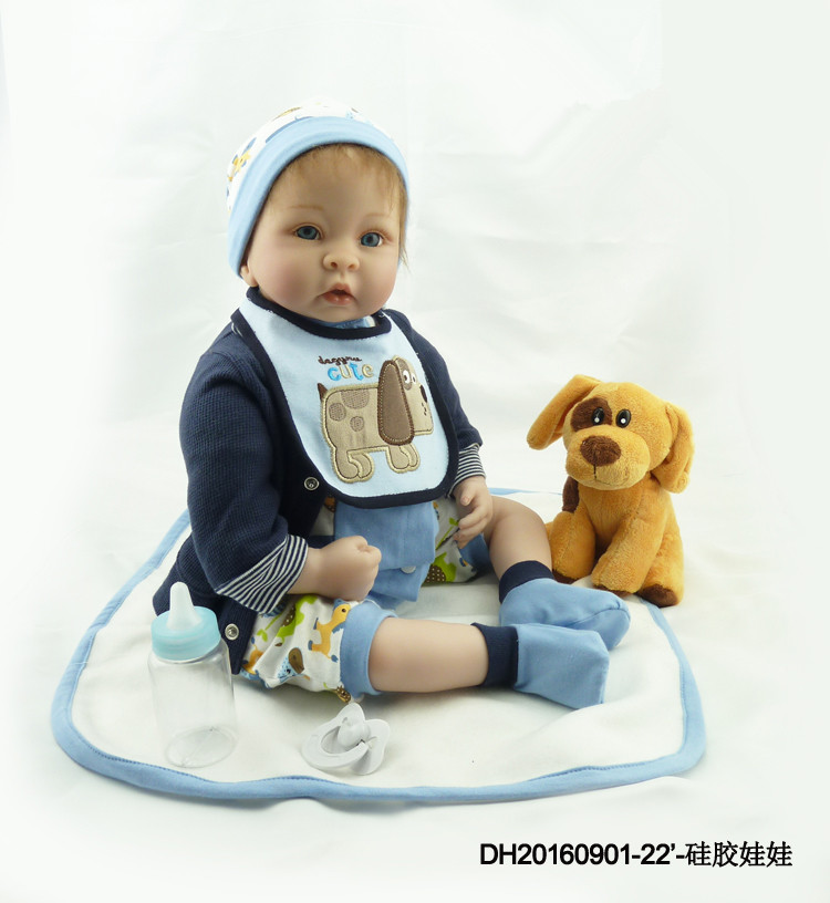 Silicone Reborn Baby Doll Toy With Many Accessories 55cm Boy Babies Dolls ToyBirthday Present Christmas Gift Girls Brinquedos