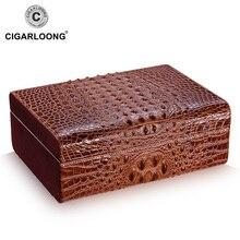 Luxury cigar humidor crocodile skin embossed natural cedar wood  moisturizing box CA-0307 Christmas gift