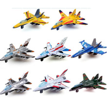 3pcs/lot Metal Alloy Plane Pull Back Toy Mini Aircraft Models Toys Force Fighter Airplane Toy Children Christmas Birthday Gift