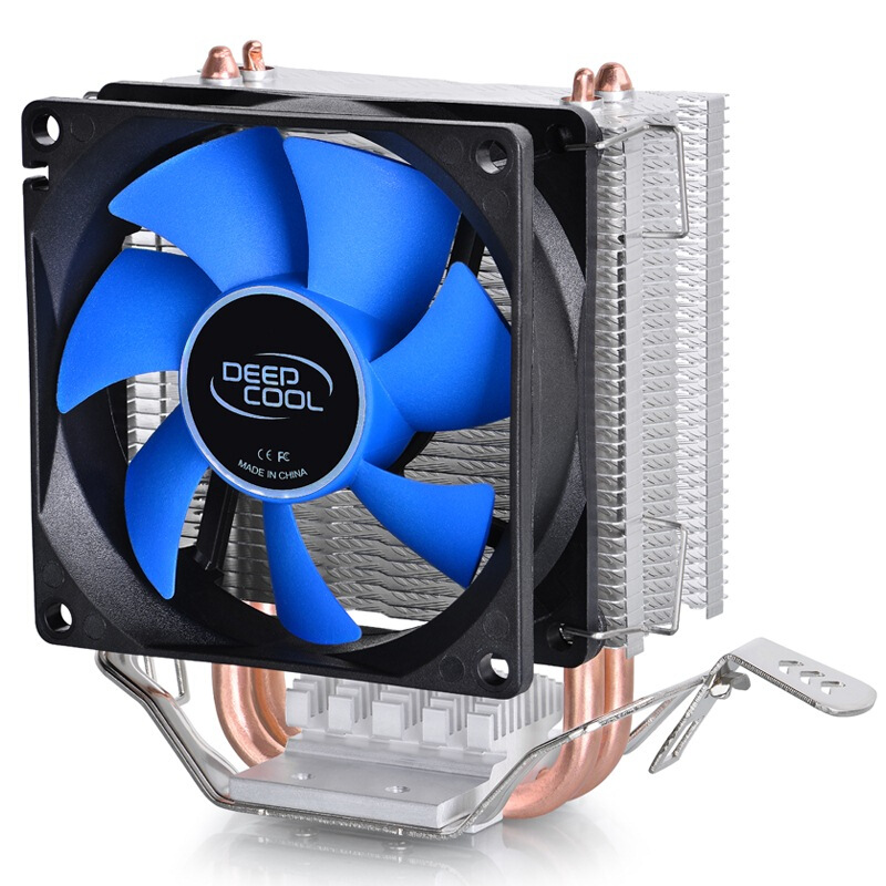 Deepcool MINI <font><b>CPU</b></font> <font><b>cooler</b></font> Double Heatpipe Radiator for Intel LGA 775/<font><b>115x</b></font> for AMD 754/940/AM2+/AM3/FM1/FM2 cooling image