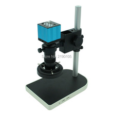 Wholesale HD 1080P USB Digital Industry Video Inspection Microscope Camera HDMI Set TF Card Video Recorder + C-MOUNT Zoom Lens+LED+holder