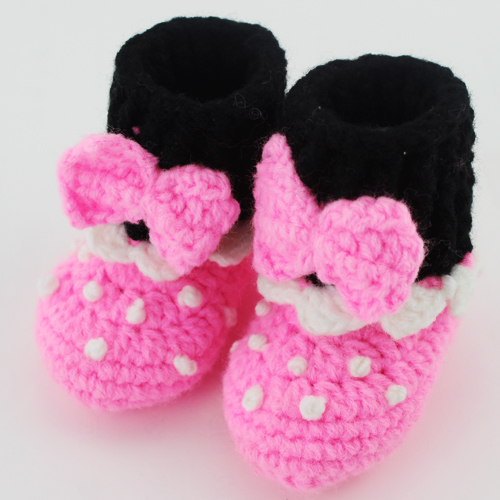 conception de bande dessine bb chaussures infantile minnie mickey mouse chaussons main enfant dabord